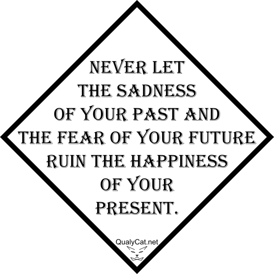 [:de]never let the sadness of your past and the fear of your future ruin the happiness of your present[:]