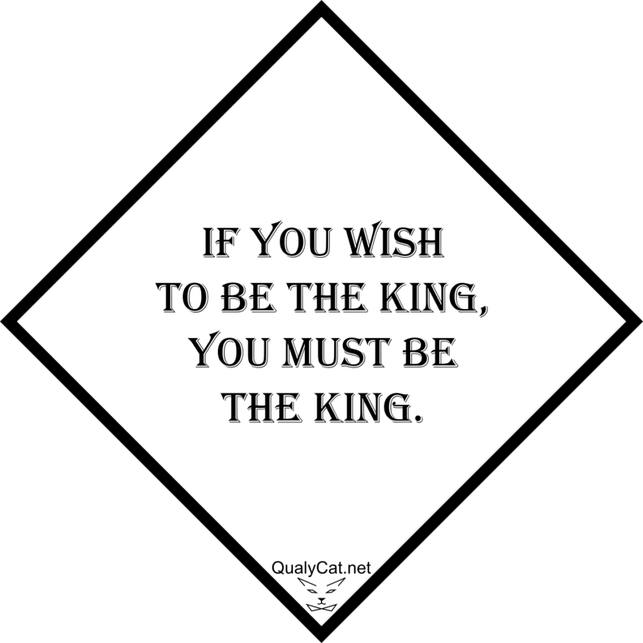 [:en]if you wish to be the king, you must be the king[:]